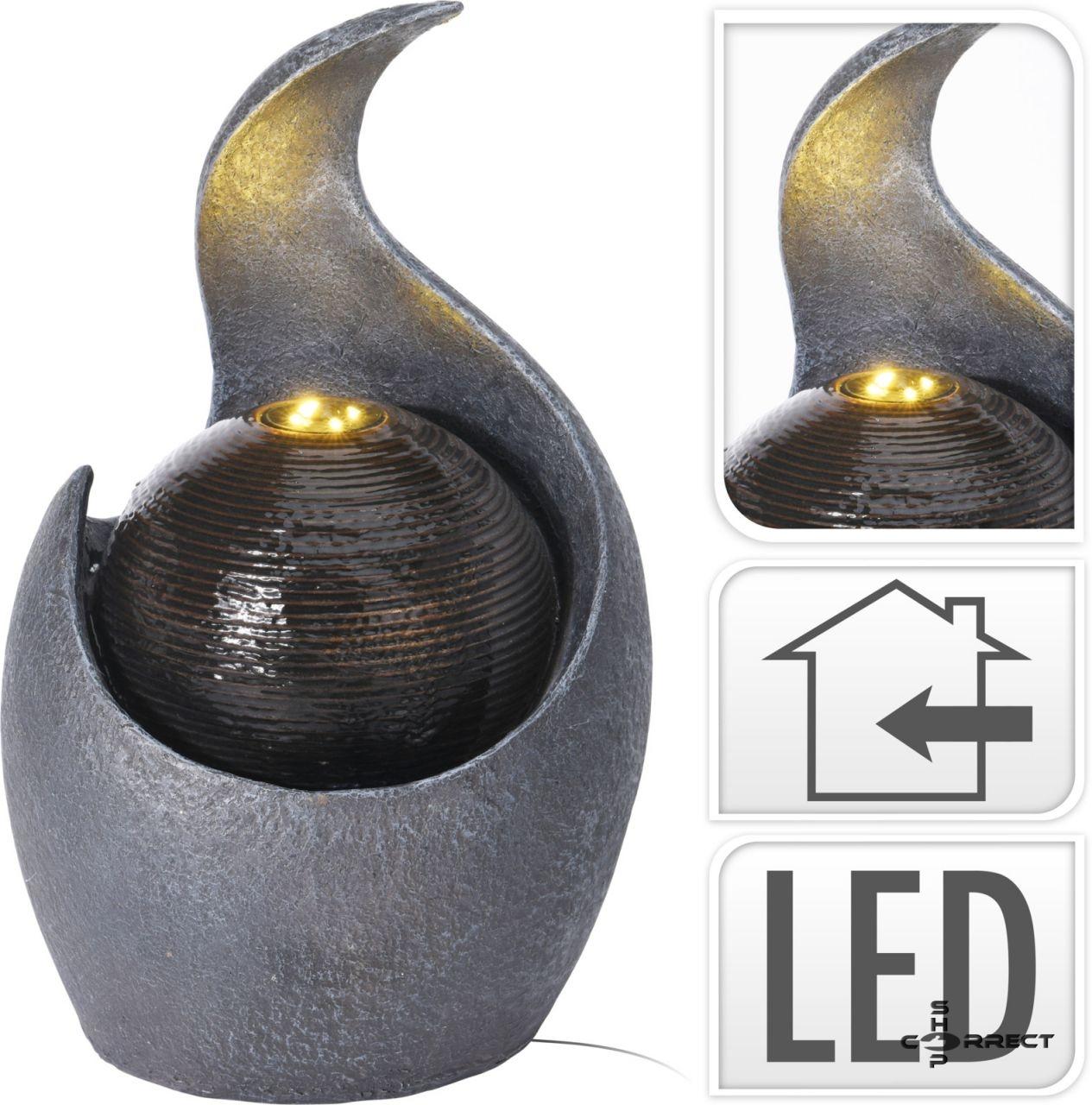 Modern beltéri szökőkút led világítással, 38cm (795-202290)