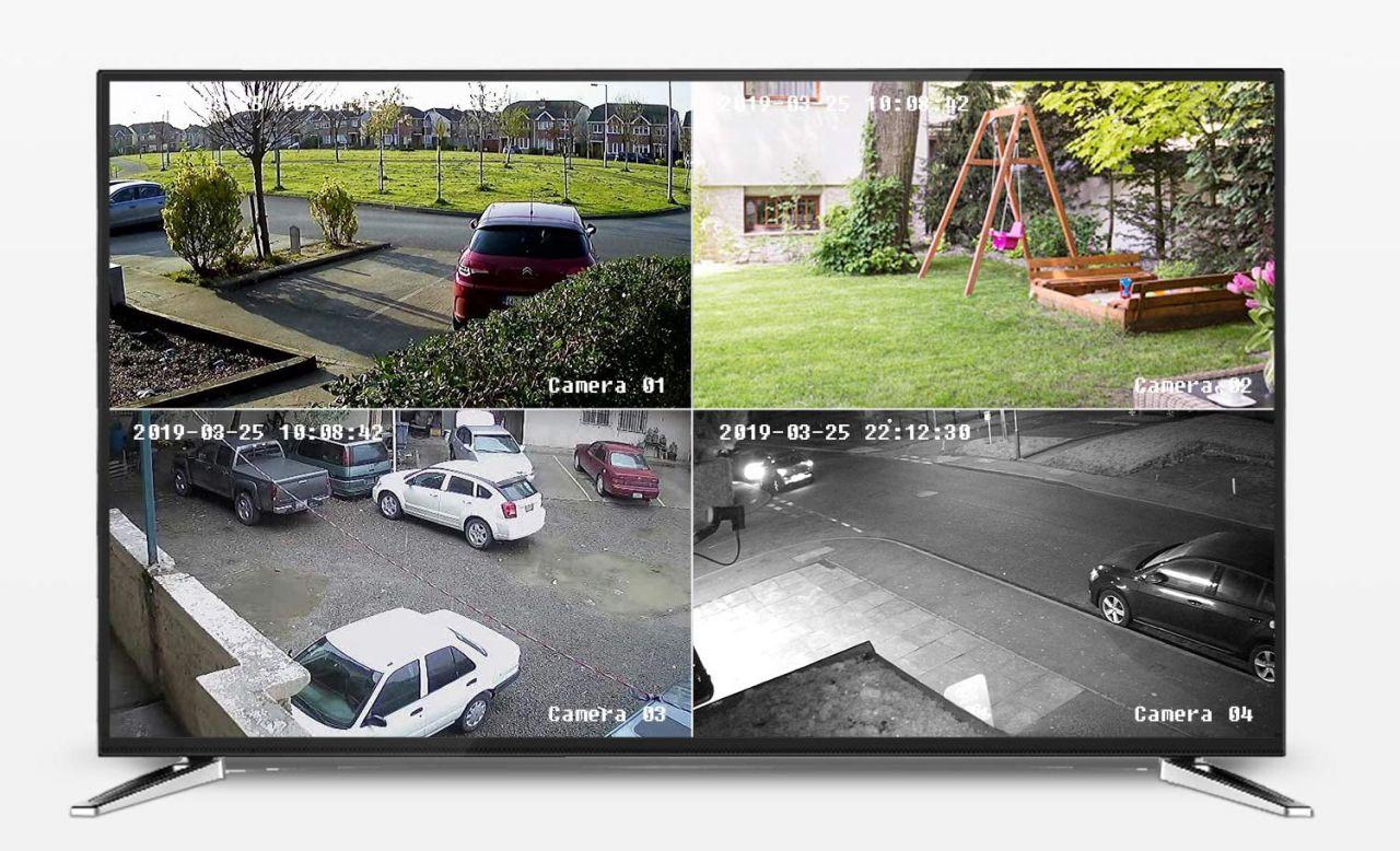 Sannce 5MP PoE 4 kamerás biztonsági rendszer 8 csatornás rögzítővel, FullHD, 2TB merevlemezzel